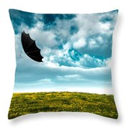 A Little Windy Throw Pillow