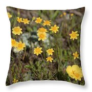 A Little Yellow Throw Pillow