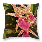 A Living Orchid Looks Like Animal Print Doesnt It So Beautiful Throw Pillow