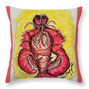 A Lobster In My Belly Throw Pillow