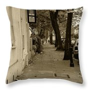 A London Street I Throw Pillow