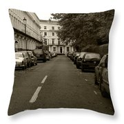 A London Street II Throw Pillow