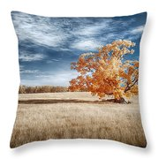 A Lone Tree Throw Pillow