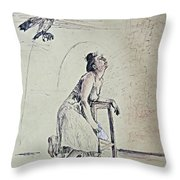 A Lonely Thought Throw Pillow