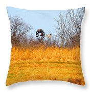 A Lonely Windmill Throw Pillow