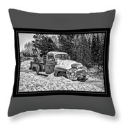 A Lonely Winter Throw Pillow