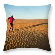 A Long Desert Run Throw Pillow