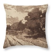 A Long Island Road Throw Pillow