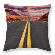 A Long Journey Throw Pillow by Rick Furmanek