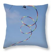 A Long-tailed Kite Soars Throw Pillow