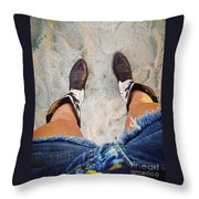 A Long Ways From Home Throw Pillow