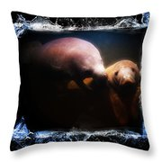 A Look Into Another World Throw Pillow