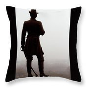 A Look Over Little Round Top Throw Pillow