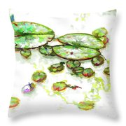 A Lotus Leaf Throw Pillow