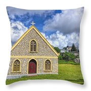 A Lovely Jamaican Church Throw Pillow