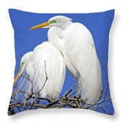A Loving Couple Throw Pillow