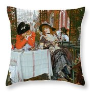 A Luncheon Throw Pillow by Tissot