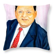 A M Naik Portrait Throw Pillow