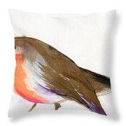 A Magical Little Robin Called Wisp Throw Pillow