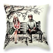 A Magical Moment Throw Pillow by Rachel Christine Nowicki