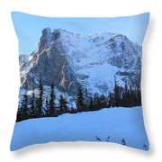A Majestic Winter View Throw Pillow