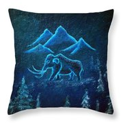 A Mammoth Journey Throw Pillow