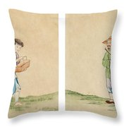 A Man And A Woman Throw Pillow