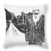 A Man And His Farm Throw Pillow