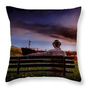 A Man And His Hat Throw Pillow