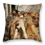A Man Being Arrested Throw Pillow