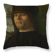 A Man In Black Throw Pillow