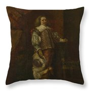 A Man In   Th Century Spanish Costume Throw Pillow