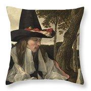 A Man Reading, Anonymous, C. 1660 Throw Pillow