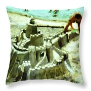 A Mans Home Is His Castle Throw Pillow
