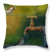 A Matter Of Watter Throw Pillow