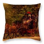 A May Morning In The Park The Fairman Robers Four In Hand 1880 Throw Pillow