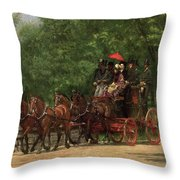 A May Morning In The Park Throw Pillow