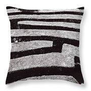 A Maze Throw Pillow