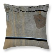 A Mean Wall Throw Pillow