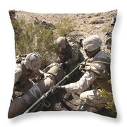 A Medic Treats Injuries On A Downed Throw Pillow