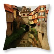 A Medieval Village In Germany Throw Pillow