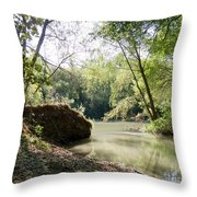 A Medina River Morning Throw Pillow