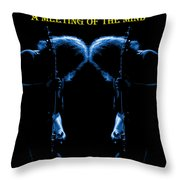 A Meeting Of The Blue Mind Throw Pillow