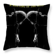 A Meeting Of The Mind Throw Pillow