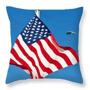 A Member Of The Army's Black Daggers Throw Pillow