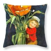 A Merry Halloween Throw Pillow