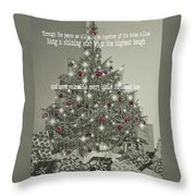 A Merry Little Christmas Quote Throw Pillow