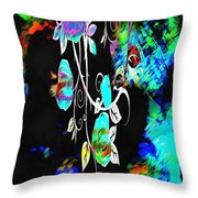 A Mess Of Roses Throw Pillow
