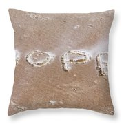 A Message On The Beach Throw Pillow