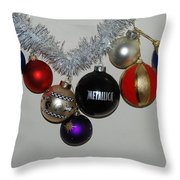 A Metallica Xmas Throw Pillow